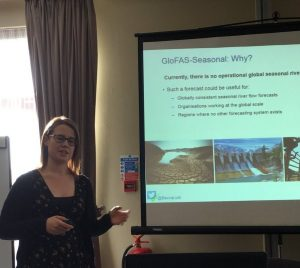 Rebecca Emberton (University of Reading) presenting to BHS meeting in January 2018, copyright Nevil Quinn UWE