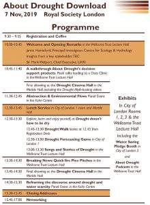 Draft programme for the About Drought Download conference (available as PDF from in page link)