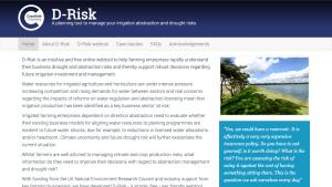 d-risk website screenshot